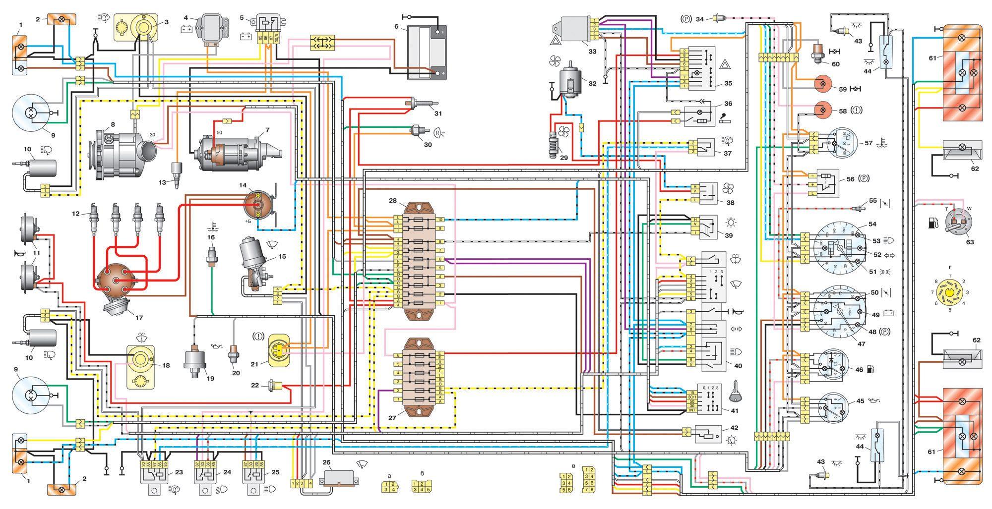 Газ 31029 схема аварийной сигнализации